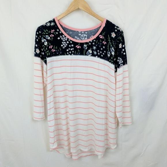 294e7870ec7b3 Maurices Mixed Print Stretchy 3/4 Sleeve Shirt. M_5cfae6af969d1f94589b4fb0